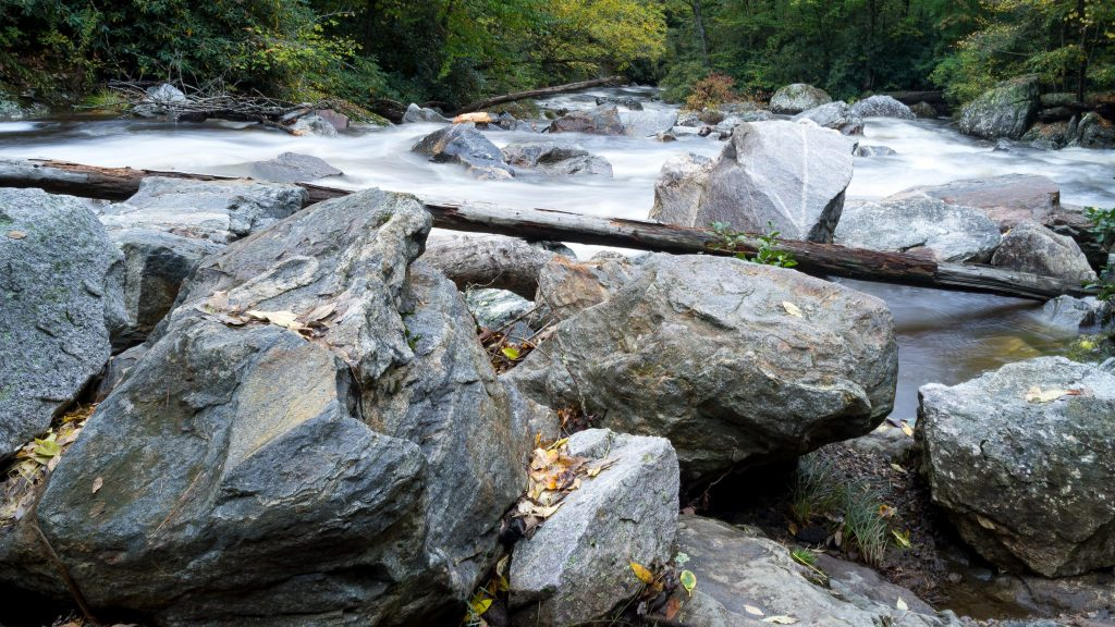 cullasaja rocks and river nc