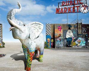 Mosaic Elephant