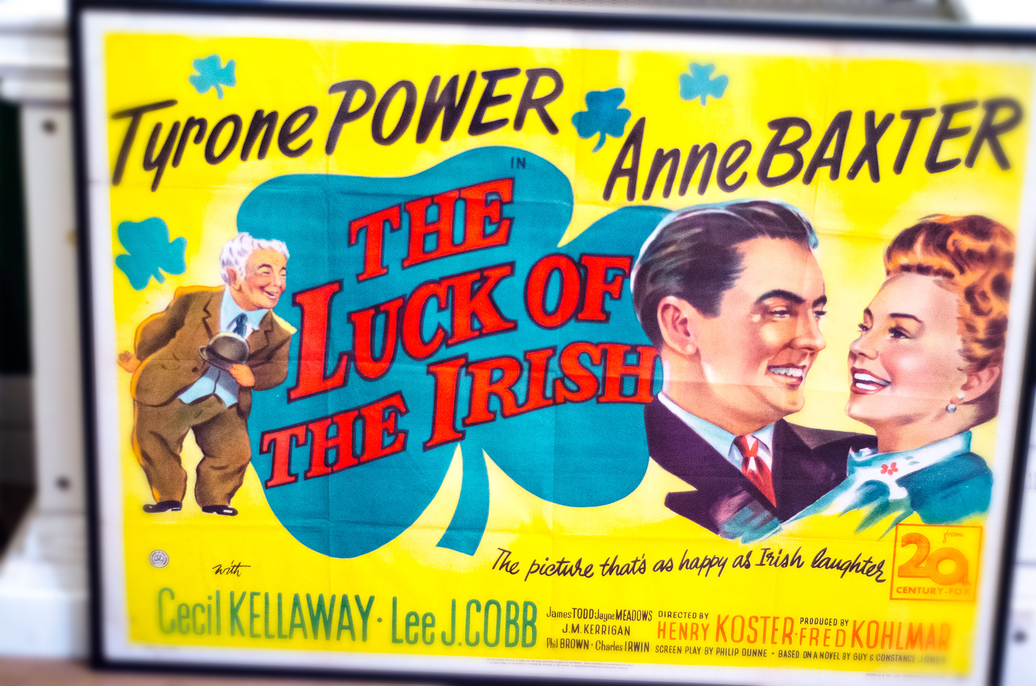 dublin luck of the irish vintage poster