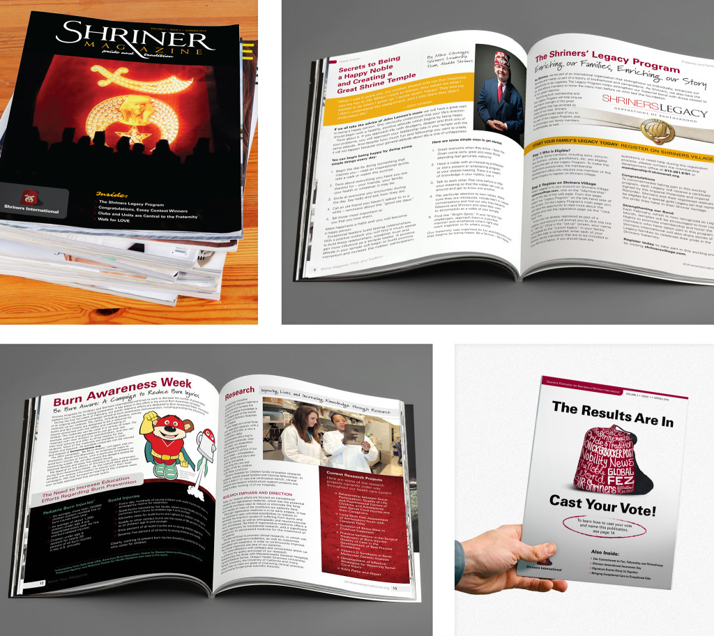 shriners international magazine design